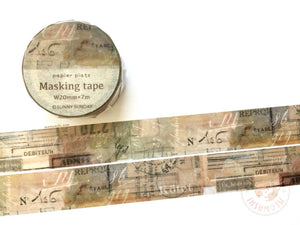 Papier Platz Sunny Sunday - Smokey washi tape 37-841