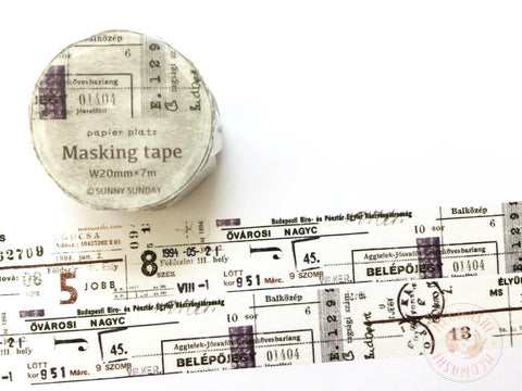 Papier Platz Sunny Sunday - Combination washi tape 37-842