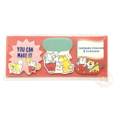 Mind Wave GOROGORO NYANSUKE X Shibanban sticky notes (56906)