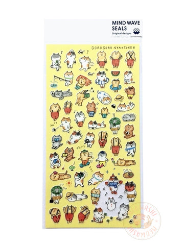 Mind Wave - Daily life of Gorogoro Nyansuke 2 washi sticker 77892