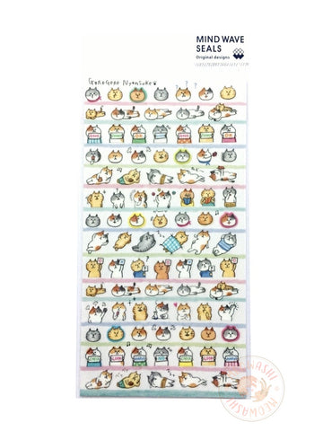 Mind Wave - Daily life of Gorogoro Nyansuke clear sticker 77729