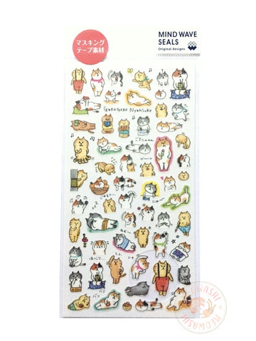 Mind Wave - Daily life of Gorogoro Nyansuke washi sticker 77597