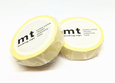 Kamoi mt basic color - pastel yellow washi tape