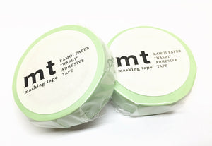 Kamoi mt basic color - pastel green washi tape