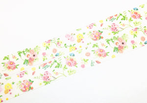 Manet Vol.5 - Pink flower washi tape