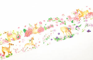 Manet Vol.5 - Bambi and Flowers washi tape
