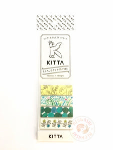 KITTA Basic portable washi tape - Plant