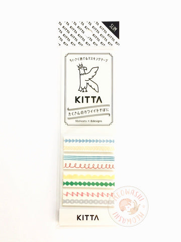 KITTA Slim portable washi tape - Line