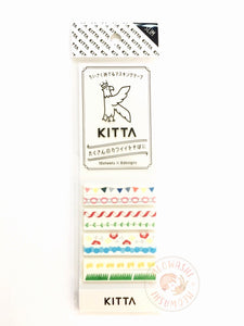 KITTA Slim portable washi tape - Festival