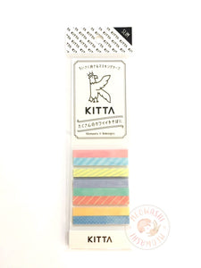 KITTA Slim portable washi tape - Mixed pattern 2