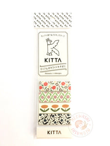 KITTA Basic portable washi tape - Flower 3