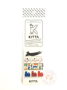 KITTA Basic portable washi tape - Cats