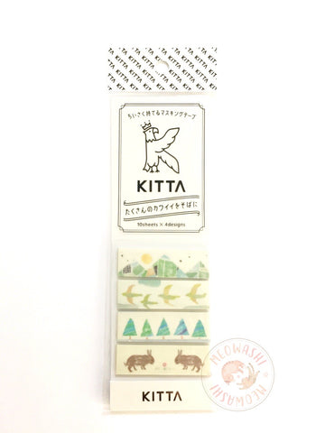 KITTA Basic portable washi tape - Mountain