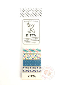 KITTA Basic portable washi tape - Geometry