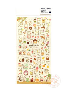 Mind Wave - Honey life cafe gold foil clear sticker