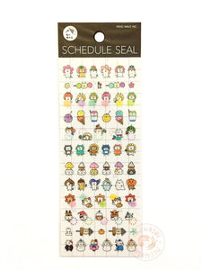 Mind Wave schedule seal - Neko clear sticker