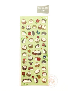 Mind Wave - Hedgehog garden foil clear sticker