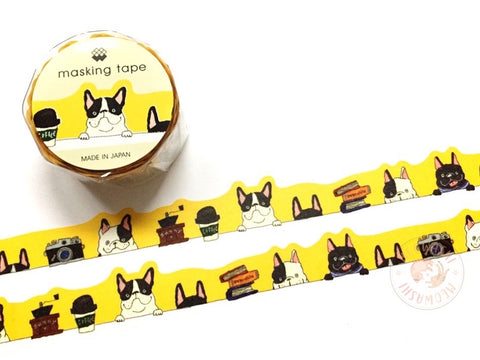 Mind Wave - Peeping SUNNY silver foil die cut washi tape