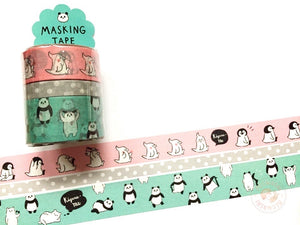 Mind Wave - Kiguru・Me washi tape 3 rolls set