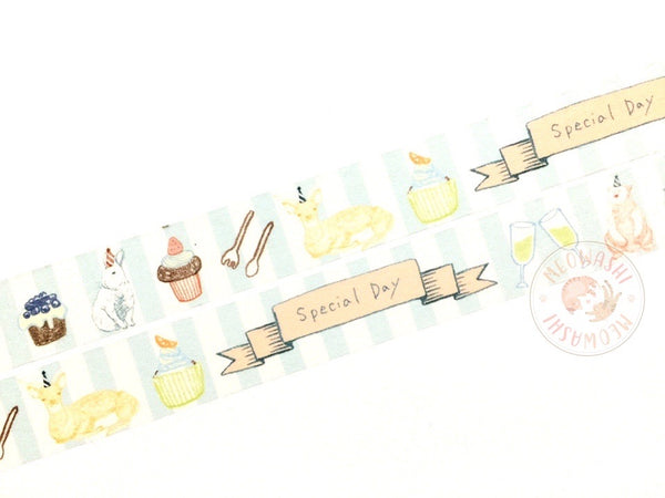 Green Flash chobit wit - Home party washi tape CW-127