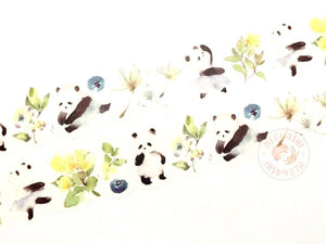 Liang Feng Watercolor - Panda ballet die cut washi tape