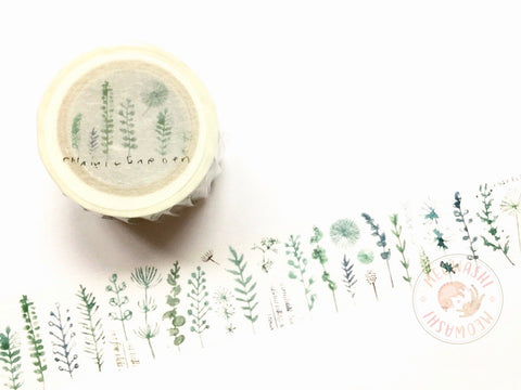 Chamil garden Vol.7 - Green leaves washi tape MTW-CH076