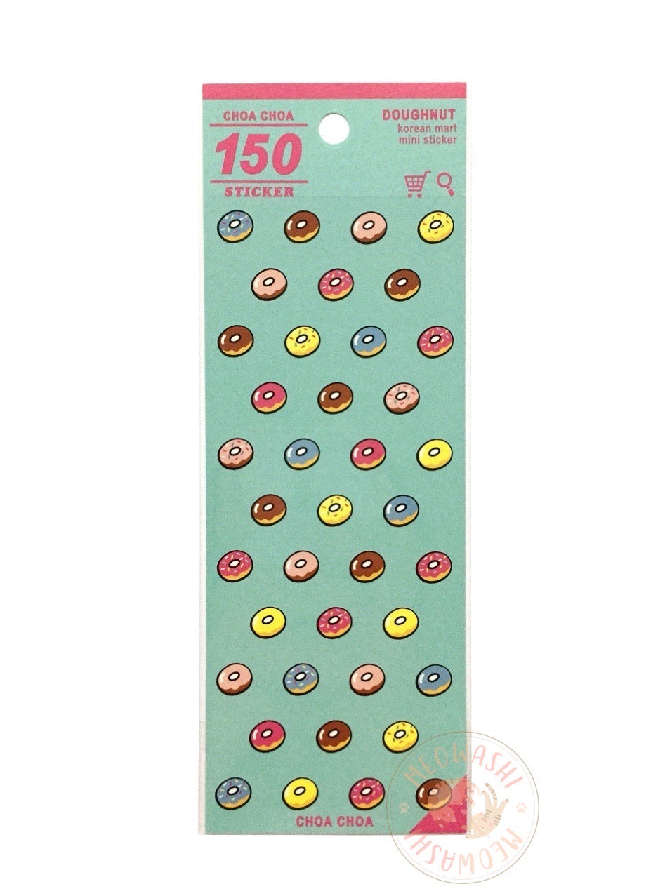 Mind Wave Korean mart mini sticker - Donut 79927