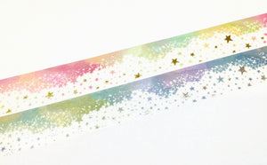 Star wishes - Gold foil Day and Silver foil Night washi tape