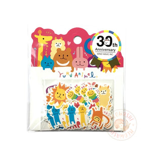 Mind Wave 30th anniversary collection - Yuru animal sticker flakes 79954