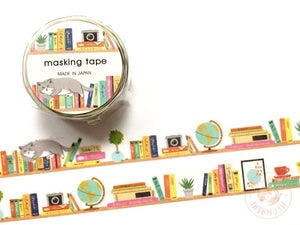 Mind Wave - Bookshelf die cut washi tape 94824