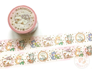 Round Top x Mika Yada - Scorpio washi tape