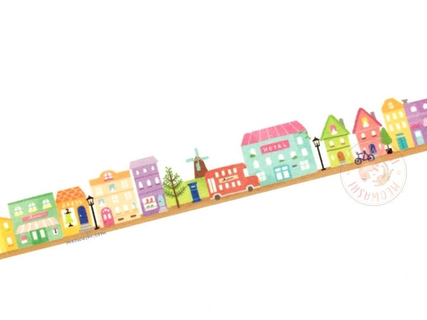 Mind Wave - Small town die cut washi tape 94829