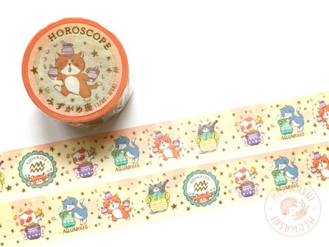 Round Top x Mika Yada - Aquarius washi tape