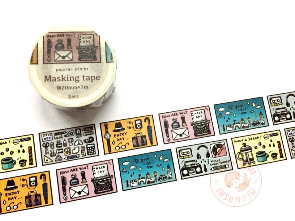Papier Platz Eric small things - Days washi tape