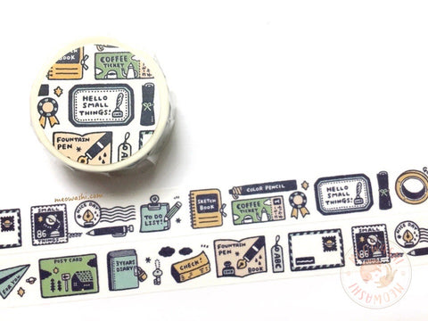 Papier Platz Eric small things - Love stationery washi tape 37-860