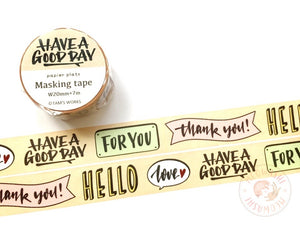 Papier Platz TAM'S WORKS - Message washi tape