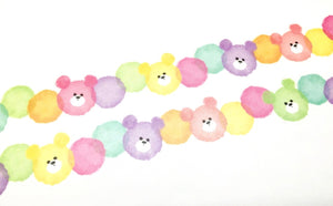 Mind Wave - Bear beans die cut washi tape