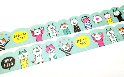 Mind Wave - Cats daily die cut washi tape
