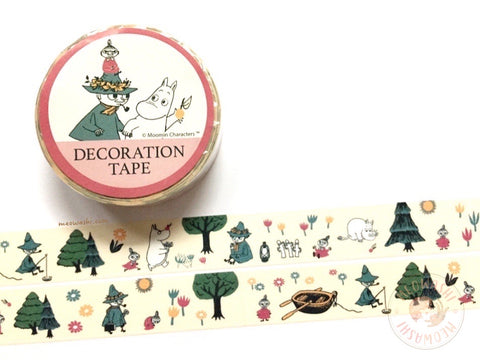 Kamio Japan - Moomin in the forest washi tape 27502