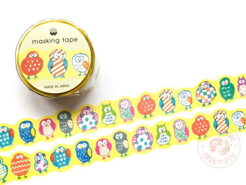 Mind Wave colorful owls die cut washi tape 93317