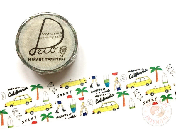 Round Top x Hirano Toshiyuki - Morning of California washi tape HT-MK-009