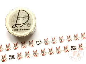 Round Top x Hirano Toshiyuki - Good luck washi tape HT-MK-015