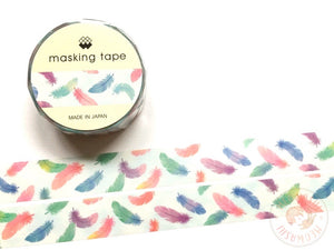 Mind Wave - Colorful feather washi tape 93365