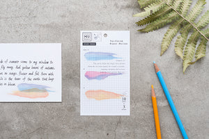 MU sticky note - Tricolor pansy color MA-001513