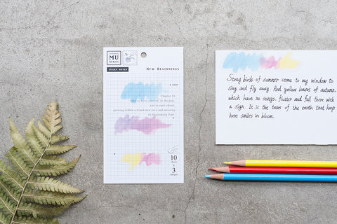 MU sticky note - New beginnings MA-001516