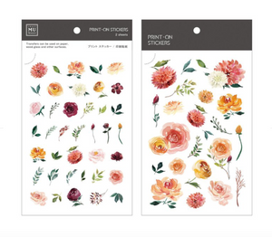 MU print-on sticker - Reddish-orange roses BPOP-001044