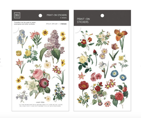 MU print-on sticker - Retro flowers BPOP-001046