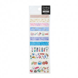 Pine Book gold foil washi sticker - Makeup TM00884