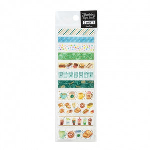 Pine Book gold foil washi sticker - Cafe TM00885