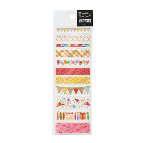 Pine Book gold foil washi sticker - Party TM00890